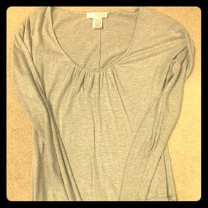 Gray tunic with ruched details
